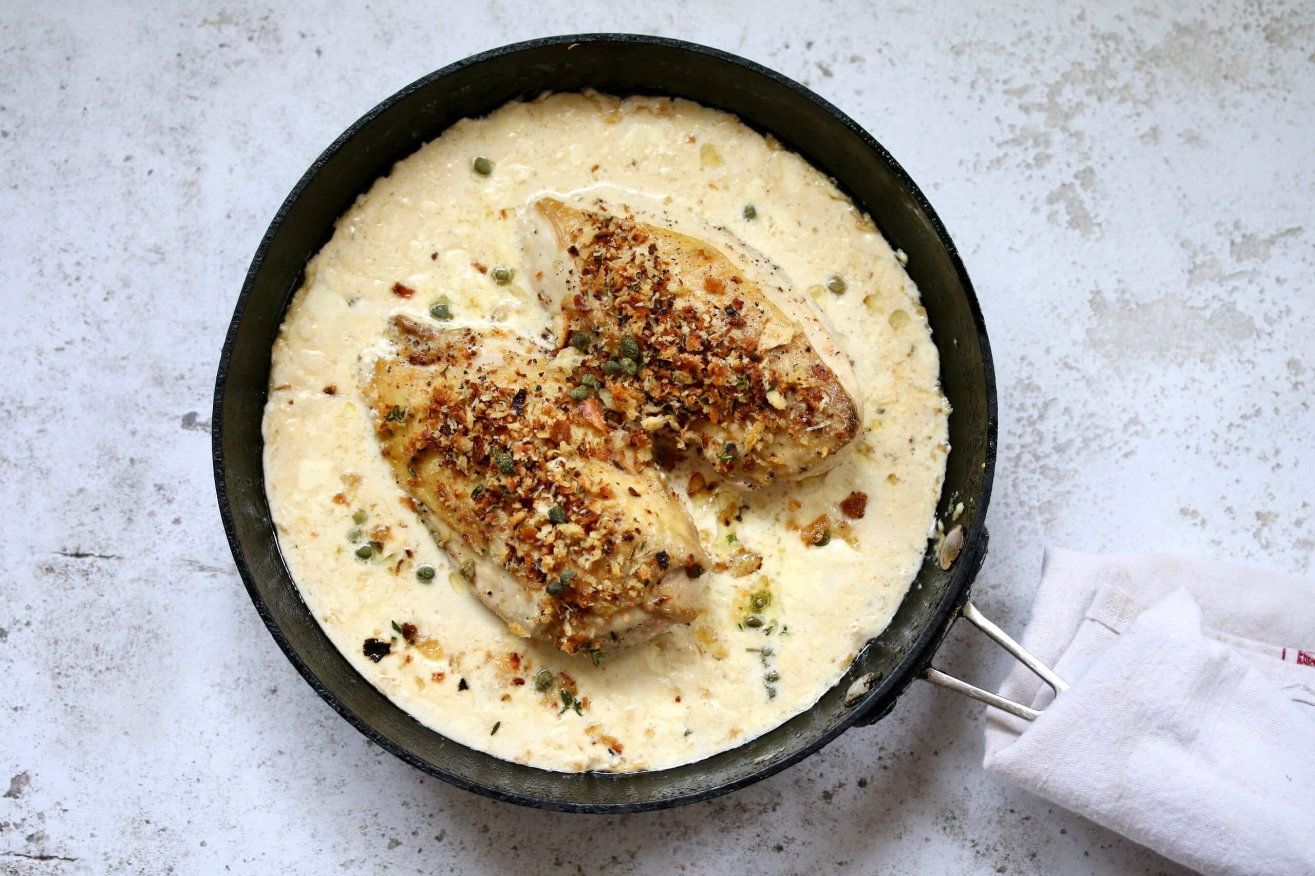 Packington Creamy Chicken breast with cheese & herb breadcrumbs